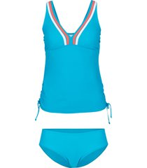 tankini con lycra (set 2 pezzi) (petrolio) - bpc bonprix collection