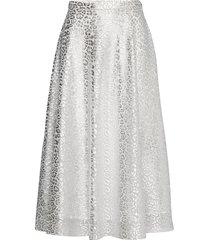 lena skirt knälång kjol silver ida sjöstedt