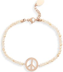 knotty beaded charm bracelet in rose gold at nordstrom