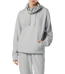 favorite daughter funnel neck hoodie, size x-large in grey at nordstrom