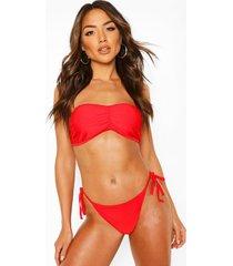 basic bandeau bikini, red