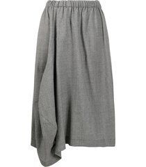 comme des garçons comme des garçons draped hounstooth skirt - black