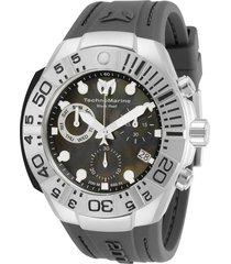 reloj technomarine gris oscuro modelo tm-5180hg para hombres, colección reef