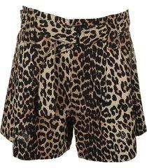 ganni linen canvas shorts
