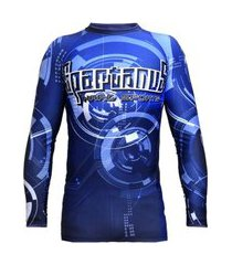rash guard spartanus fightwear robotic azul