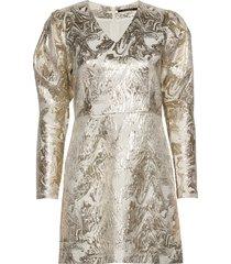goldie art dress kort klänning guld bruuns bazaar