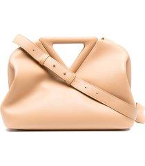 bottega veneta the triangle shoulder bag - neutrals