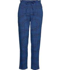 pant turin pantalon met rechte pijpen blauw desigual