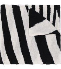 missoni two-tone cashmere scarf - black
