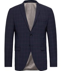 slhslim-bill navy/pink check blz b blazer colbert blauw selected homme