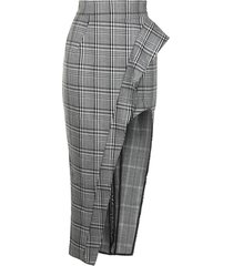 maticevski plaid-check pencil skirt - black