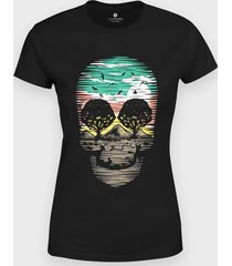 koszulka skull nature 2