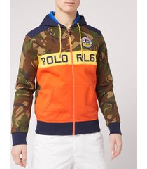 polo ralph lauren men's camo zip up hoodie - camo multi - s