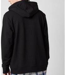 calvin klein men's pullover chest logo hoodie - black - xl
