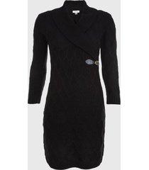vestido sweater negro calvin klein