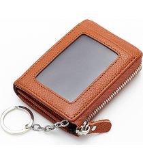vera pelle chiave retro portatile borsa monete borsas titolare della carta