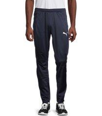 puma men's training mesh-panel pants - navy - size xl