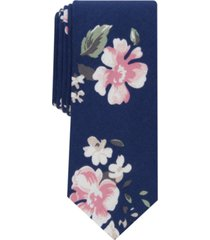 bar iii men's holt skinny floral tie, created for macy's