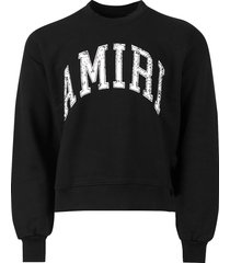 varsity crewneck sweatshirt, black