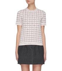 stripe belt contrast stitch mini skirt