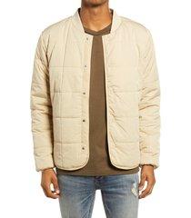 men's topman square quilt men's liner jacket, size x-small - beige