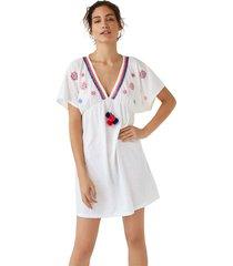 vestido corto de borados y abalorios multicolor women secret 7455577 99xs