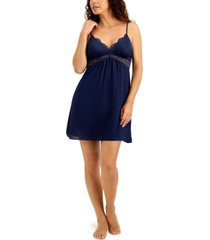 inc lace-bodice chiffon chemise nightgown, created for macy's
