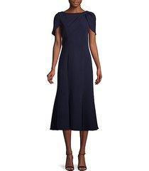 short-sleeve boatneck dress