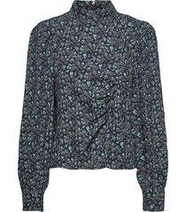 loraligz blouse blouse lange mouwen blauw gestuz