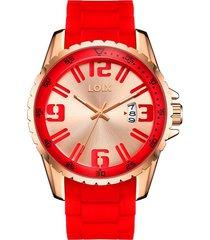 reloj hombre loix ref l2019-02 rojo
