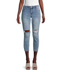 sts blue women's emma mid-rise distressed cropped jeans - kenyon - size 29 (6-8)