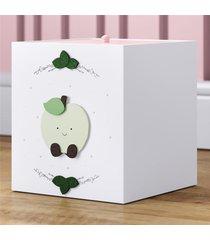 lixeira bebe branco amiguinha maçã alice grão de gente rosa