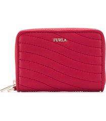 furla swing zip purse - red