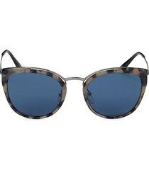 prada women's 54mm cat-eye sunglasses - gunmetal