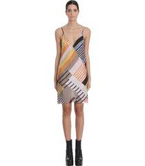 rick owens slip dress dress in multicolor viscose