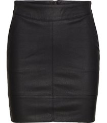 onlbase faux leather skirt otw noos kort kjol svart only