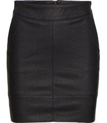 onlbase faux leather skirt otw kort kjol svart only