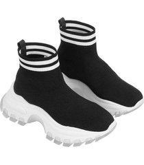 botas tejidas con suela en contraste para mujer freedom 01070