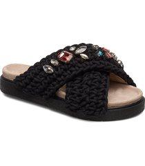 slipper woven st s shoes summer shoes flat sandals svart inuikii
