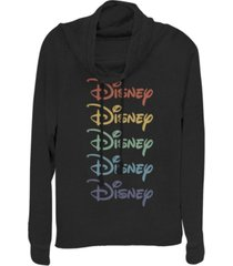 fifth sun juniors disney logo disney rainbow fleece cowl neck sweatshirt