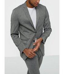 selected homme slhslim-mylobill lt grey strc blz b kavajer & kostymer ljus grå