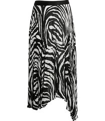 logan zebra-print skirt