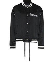 classic varsity jacket black