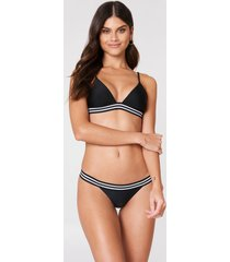 na-kd swimwear elastic bikini briefs - black