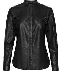 shirt långärmad skjorta svart depeche
