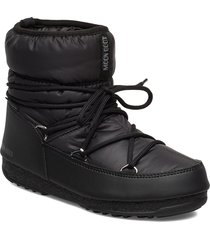 mb low nylon wp 2 shoes boots ankle boots ankle boots flat heel svart moon boot
