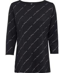 maglia con stampa lucida (nero) - rainbow
