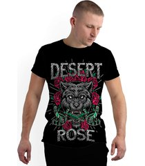 camiseta stompy new collection desert roses preto - kanui