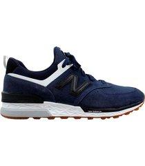 zapatilla azul new balance 574 sport