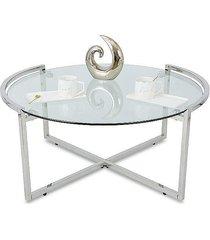stolik kawowy diani silver 90 cm